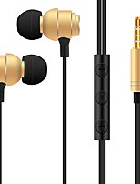 S810 In Ear Wired Headphones Dynamic Plastic Mobile Phone Earphone Noise-isolating with Microphone Headset