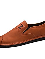 Men's Shoes PU Spring Fall Comfort Loafers & Slip-Ons For Casual Brown Gray Black