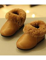 Fille Chaussures Polyuréthane Automne Hiver Premières Chaussures Bottes Pour Décontracté Noir Marron