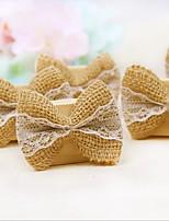 support de carte de mariage de lin en bois permanent style réception de mariage