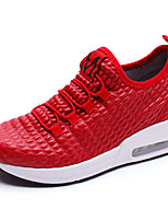Women's Shoes PU Summer Fall Comfort Sneakers For Casual Outdoor Blushing Pink Red Black White