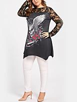 T-shirt Da donna Per eventi Casual Sensuale Moda città Fantasia floreale Rotonda Poliestere Manica lunga