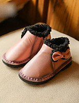 Girls' Shoes PU Winter Comfort Flats For Casual Blushing Pink Red