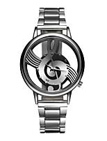 Men's Women's Fashion Watch Wrist watch Quartz Stainless Steel Band Casual Silver