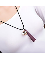 Men's Women's Pendant Necklaces Wood Alloy Fashion Hip-Hop Jewelry For Daily Casual