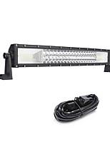324w 32400lm 6000k 3-righe curvato led luce comandi luce bianca luce offroad per auto / barca / faro ip68 9-32v 3m 1 a 1 kit di cablaggio