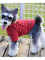 Dog Sweatshirt Dog Clothes Casual/Daily Solid Red Green Blue