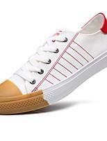Для мужчин обувь Полиуретан Весна Осень Удобная обувь Кеды Назначение Повседневные Красный Wit En Groen