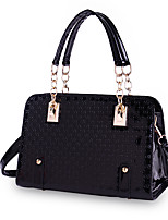 Women Bags All Seasons PU Tote Pattern / Print Zipper for Shopping Casual Black