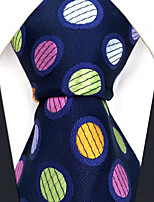 Men's Silk Neck Tie,Dots Grid Polka Dot All Seasons