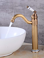 Centerset Clawfoot with  Ceramic Valve Single Handle One Hole for  Antique Copper , Bathroom Sink Faucet