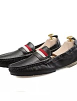 Men's Shoes Leather Spring Fall Driving Shoes Loafers & Slip-Ons For Casual Blue Black White