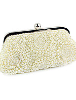 Women Bags All Seasons Polyester Evening Bag Pearl Detailing for Wedding Event/Party Beige