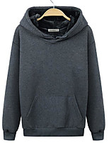 Men's Going out Hoodie Solid Hooded Micro-elastic Others Long Sleeve Spring Fall