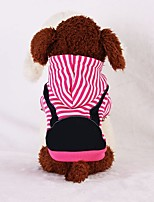 Dog Hoodie Dog Clothes Casual/Daily Stripe Dark Blue Fuchsia Costume For Pets