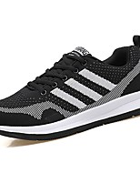 Men's Shoes PU Spring Fall Comfort Sneakers For Casual Gray Dark Grey Black/White