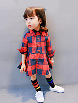 Girl's Color Block Dress Fall Winter
