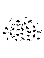 Animals Cartoon Fashion Wall Stickers Plane Wall Stickers Decorative Wall Stickers,Vinyl Material Home Decoration Wall Decal