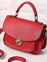 Women Bags All Seasons PU Shoulder Bag Zipper for Casual Black Red Gray