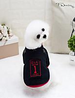 Cane Felpa Abbigliamento per cani Cotone Primavera/Autunno Inverno Alla moda Solidi Rosso Nero Per animali domestici