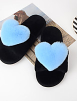 Women's Shoes Wool Spring Fall Comfort Slippers & Flip-Flops For Casual Blue Yellow Gray