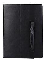 pour porte-cartes de couverture de cas porte-monnaie avec stand flip automatique sommeil / réveil caisse de corps complet couleur solide