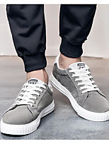 Men's Shoes Canvas Spring Fall Light Soles Sneakers For Casual Red Gray Black