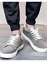 Homme Chaussures Toile Printemps Automne Semelles Légères Basket Pour Décontracté Noir Gris Rouge