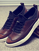 Для мужчин обувь Свиная кожа Весна Осень Удобная обувь Кеды Назначение Повседневные Серый Коричневый Винный