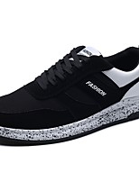 Men's Shoes Rubber Spring Fall Comfort Sneakers Lace-up For Outdoor Black/Red Black/White Black