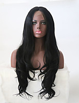 Women Synthetic Wig Lace Front Long Natural Wave Black Middle Part Natural Wigs Costume Wig