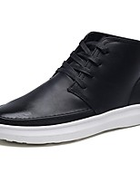 Men's Shoes PU Spring Fall Comfort Sneakers Lace-up For Casual Brown Black