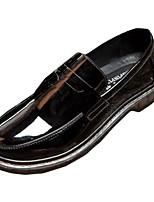 Masculino sapatos Couro Ecológico Primavera Outono Conforto Mocassins e Slip-Ons Cadarço Para Casual Preto