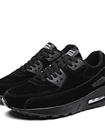 Men's Shoes Leatherette Fall Winter Comfort Sneakers Lace-up For Casual Outdoor Khaki Gray Black