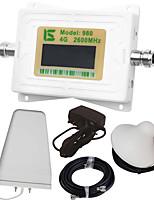 Mini intelligent lcd affichage 4g980 2600 mhz téléphone portable répéteur booster avec journal extérieur antenne périodique / antenne