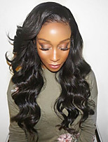 Women Human Hair Lace Wig Brazilian Human Hair Lace Front 130% Density Layered Haircut With Baby Hair Deep Wave Wig Black Medium Brown