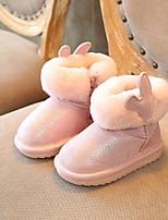 Fille Chaussures Similicuir Hiver Bottes de neige Bottes Bottine/Demi Botte Pour Décontracté Noir Rose
