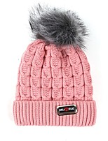Women's Knitwear Sweater Ski Hat,Hat Print Winter Pure Color