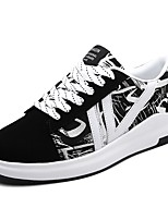 Men's Shoes PU Spring Fall Comfort Sneakers For Casual Black/Red Black/White