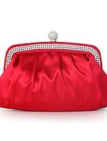 Damen Taschen Ganzjährig Seide Abendtasche Rüschen für Hochzeit Veranstaltung / Fest Silber Rote Purpur Wein