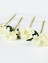 2 Branch Polyester Hydrangeas Tabletop Flower Artificial Flowers