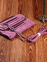 Women Bags All Seasons PU Clutch Zipper for Casual Purple