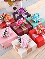 Cubic Pearl Paper Favor Holder With Flowers Favor Boxes Wedding Favors