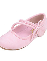 Girls' Shoes PU Spring Fall Comfort Novelty Flats Bowknot Buckle For Wedding Dress Blushing Pink Brown Black