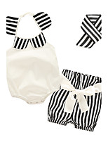 Baby Girls' Daily Striped Print Clothing Set