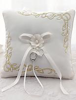 ruban bowknot fleur (s) satin anneau de soie oreillers cérémonie de mariage