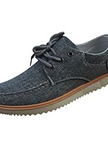 Men's Shoes Rubber Fall Comfort Sneakers Lace-up For Outdoor Blue Gray