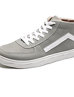 Men's Shoes Suede Spring Fall Light Soles Sneakers Lace-up For Casual Gray Black