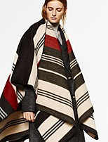 Women's Imitation Cashmere Rectangle Striped Spring/Fall Winter