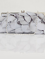 Women Bags All Seasons Silk Evening Bag Tiered for Wedding Event/Party Gray Wine